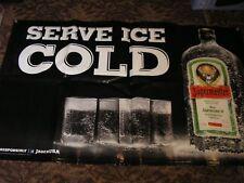 "JAGERMEISTER BANNER ""SERVE ICE COLD"" Vinyl OUTDOOR BAR SIGN LIQUOR FLAG BIKER"