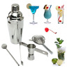 1Set Stainless Steel Cocktail Shaker Drink Mixing Bartender Mixer Bar Kit Tools