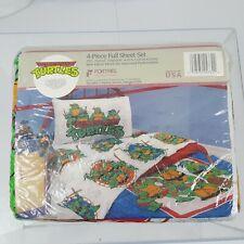 New listing Vintage 1990 Teenage Mutant Ninja Turtles Action Full Bedding Sheets, Nip