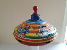 VINTAGE And Rare CHAD VALLEY SPINNING TOP TIN PLATE Retro Fairground Theme
