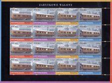 POLEN 2007 Klb Antique Locomotives(2007; Nr kat.:4158-4161)