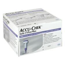 NEW SEALED Accu Chek Safe T Pro Plus Single Use Lancets 200 Sterile FREE POSTAGE