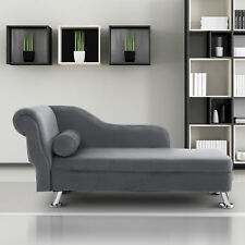 Deluxe Chaise Longue Designer Vintage Style Lounge Day Bed Retro Sofa W Cushion