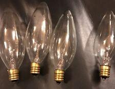2 PK clear 25 watt Candelabra base light bulb