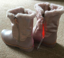 Brand New Ted Baker Girls Pink Sparkle Zip Up Fur Boots Size UK 5 New
