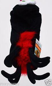 Halloween Martha Stewart Black & Red Spider Pet Dog Shirt XSmall NWT