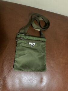 Authentic Prada Vela Nylon Crossbody Bag