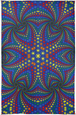 3-D Twisted Rainbow Suns Tapestry 60X90 Free Shipping & 3-D Glasses 76140