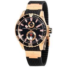 Ulysse Nardin Maxi Marine Diver Black Dial With Wave Design Automatic 18kt Rose