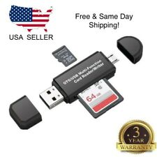 Micro USB OTG to USB 2.0 Adapter SD/Micro SD Card with standard USB Male