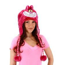 Walt Disney Alice In Wonderland Cheshire Cat Hoodie Hat with Ears & Tassels, NEW