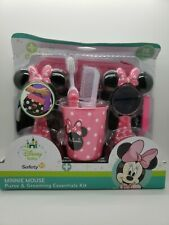 Disney Safety 1st Minnie Mouse Grooming Essentials Kit Purse Brush MirroR New