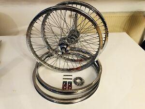 "Suzue & Araya Set BMX Wheels 20"" Original Japan NOS 48s"