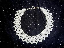 Vintage Faux Pearl Collar Necklace