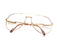 Vintage Hilton Exclusive 021 3 Pilot Eyeglasses Optical Frame Lunettes Brille RX