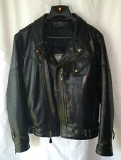 Wilsons Leather Men's Thinsulate Classic Black  Motorcycle Jacket Coat Large
