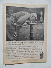 1980 Print Ad Jack Daniels Tennessee Whiskey ~ Water from the Cave Spring