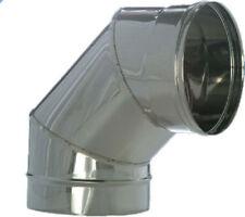 CANNA FUMARIA CURVA A 15/30/45/90° IN ACCIAIO INOX 316 E 304 PARETE SEMPLICE