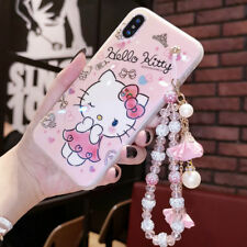 Cute Hello Kitty Diamond Bracelet Strap Case Cover for iPhone XS Max XR 7 8 Plus