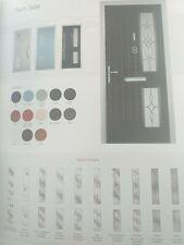 twin side with murano glass composite door