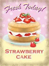 gâteau aux fraises,frais Today Crème ,cuisine style rétro aimant pour