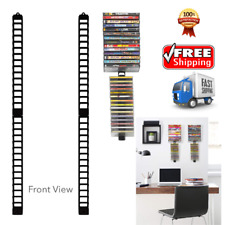 Wall Mount Cd Organizer Rack Dvd Holder Media Storage Disk Case Stix 4 Pack