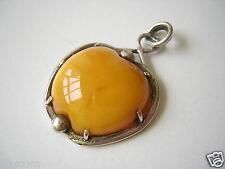 Butterscotch Natur Bernstein Anhänger Herz Silber Genuine Amber 6,3 g