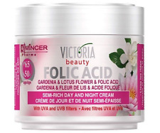 Folic & Hyaluronic Acid Anti Wrinkle Face Day Night Cream Age 50 +, Gardenia