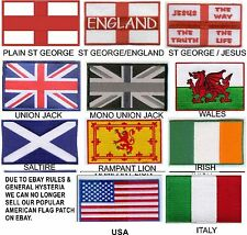 Biker Flag Patches United Kingdom,England, Scotland, Ireland, Wales, USA, Italy