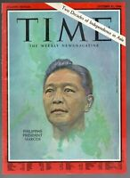 1966 Time Philippines President Ferdinand Marcos Only Cover Original Frame