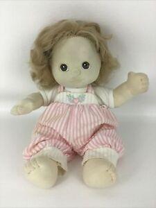 My Child Doll Vintage 1985 Girl Sandy Blonde Brown Eyes Mattel Original Outfit