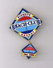 Walt Disney World Beach Club Resort Hotel Umbrella Logo Est 1990 Dangle Pin
