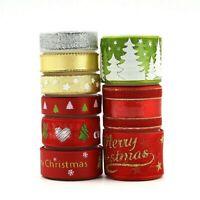 9 Pcs Gift Packaging Ribbon Christmas Tree Decor Party Supplies Snowflake Crafts