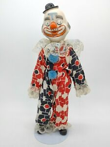 Vintage Circus Parade Clown Porcelain With Stand