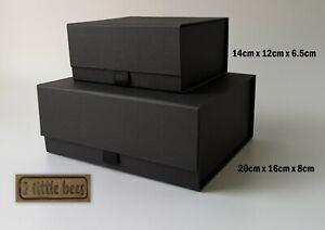 Black Gift Box Luxury Magnetic Birthday Wedding Bridesmaid Hamper Corporate UK