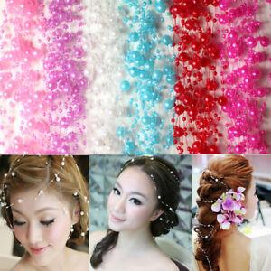 5M Round Pearl Beads Chain Garland Flower Hair Wedding Christmas DIY Decor Graft