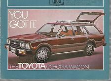 1976 TOYOTA Corona Wagon advertisement, Toyota ad, CORONA Station Wagon