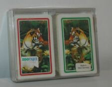 VINTAGE DOUBLE DECK PLAYING CARD SET - SCHMID WEST GERMANY BRIDGE CARDS TIGERS