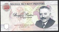 More details for england.  walsall security printers test note, circa 1993.