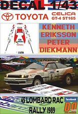 DECAL 1/43 TOYOTA CELICA GT-4 (ST165) K.ERIKSSON RAC R. 1989 4th (03)