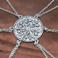 Slice Pizza Charm Pendant Chain Necklace Best Friends BFF Friendship Silver Pltd