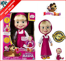 Masha And The Bear 12 Inch Feature Interactive Doll Toy - Giggle and Play Masha