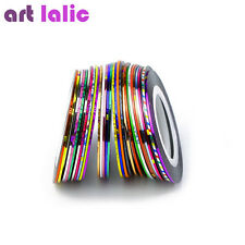 30Pcs Rolls Striping Tape Line DIY Nail Art Tips Decoration Sticker Choose Color