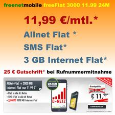 Handyvertrag ohne Handy mit Allnet Flat 3GB Internet Simkarte Smartphone Vertrag