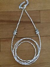 SILVER BEADED EYEGLASS, ELEPHANT DESIGN GLASSES SPECTACLES CHAIN HOLDER CORD