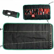 Tool Pouch Roll Up Black Oxford Cloth 665x355mm Electrician Portable Storage 1pc