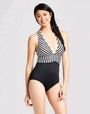 Women Striped One-Piece Swimwear Swimsuit Monokini Padded Bikini Bathing Suit L