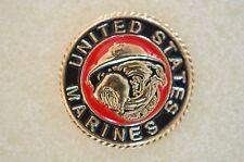 US USA USMC Marine Corps Bulldog Military Hat Lapel Pin