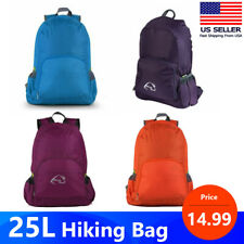 25L Durable Packable Outdoor Backpack Hiking Camping Travel Shoulders Bag USA