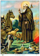 * Sant'Antonio Abate * Raffigurazione su carta periodo fine Anni 30 !